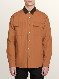 Larkin Jacket In Camel, Front View