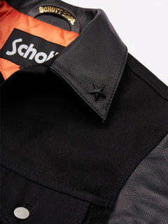 Volcom X Schott Jacket In Black, Second Alternate View