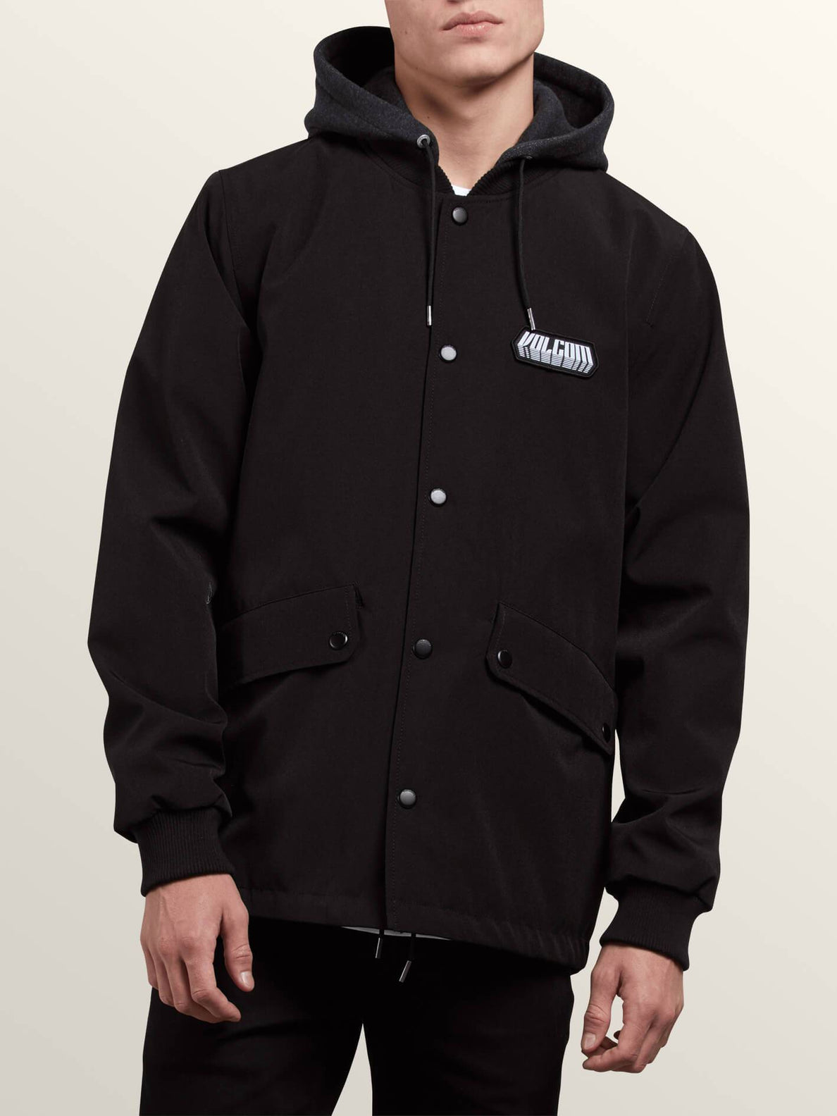 Highstone Jacket In Black, Front View