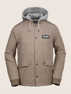 Highstone Jacket In Khaki, Front View