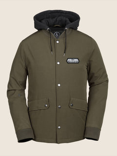 Highstone Jacket In Snow Military, Front View