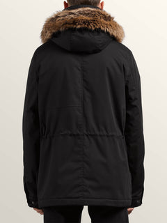 Lidward Parka In Black, Back View