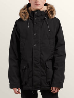 Lidward Parka In Black, Front View