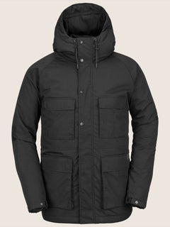 Renton Winter Parka In Black, Front View