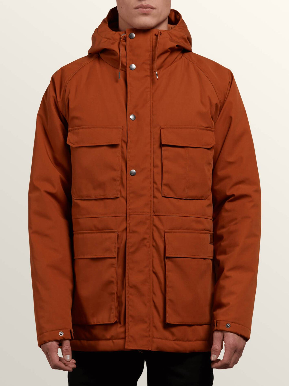 Renton Winter Parka In Hazelnut, Front View