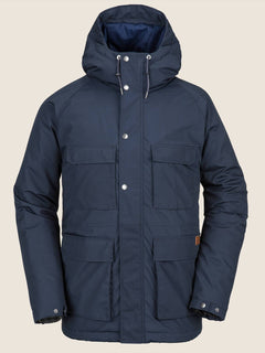 Renton Winter Parka In Navy, Front View