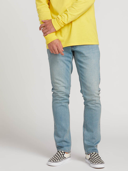 Vorta Slim Fit Jeans In Allover Stone Light, Front View