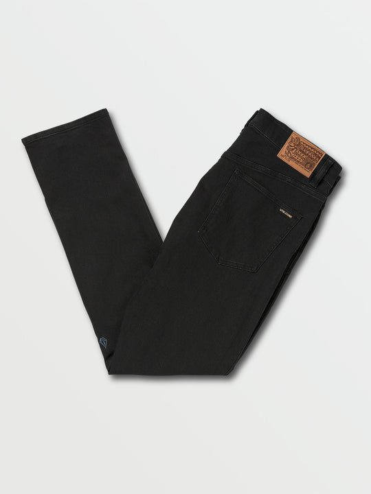 Vorta Slim Fit Jeans In Blackout, Back View