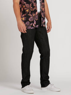 Vorta Slim Fit Jeans In Black Rinser, Front View