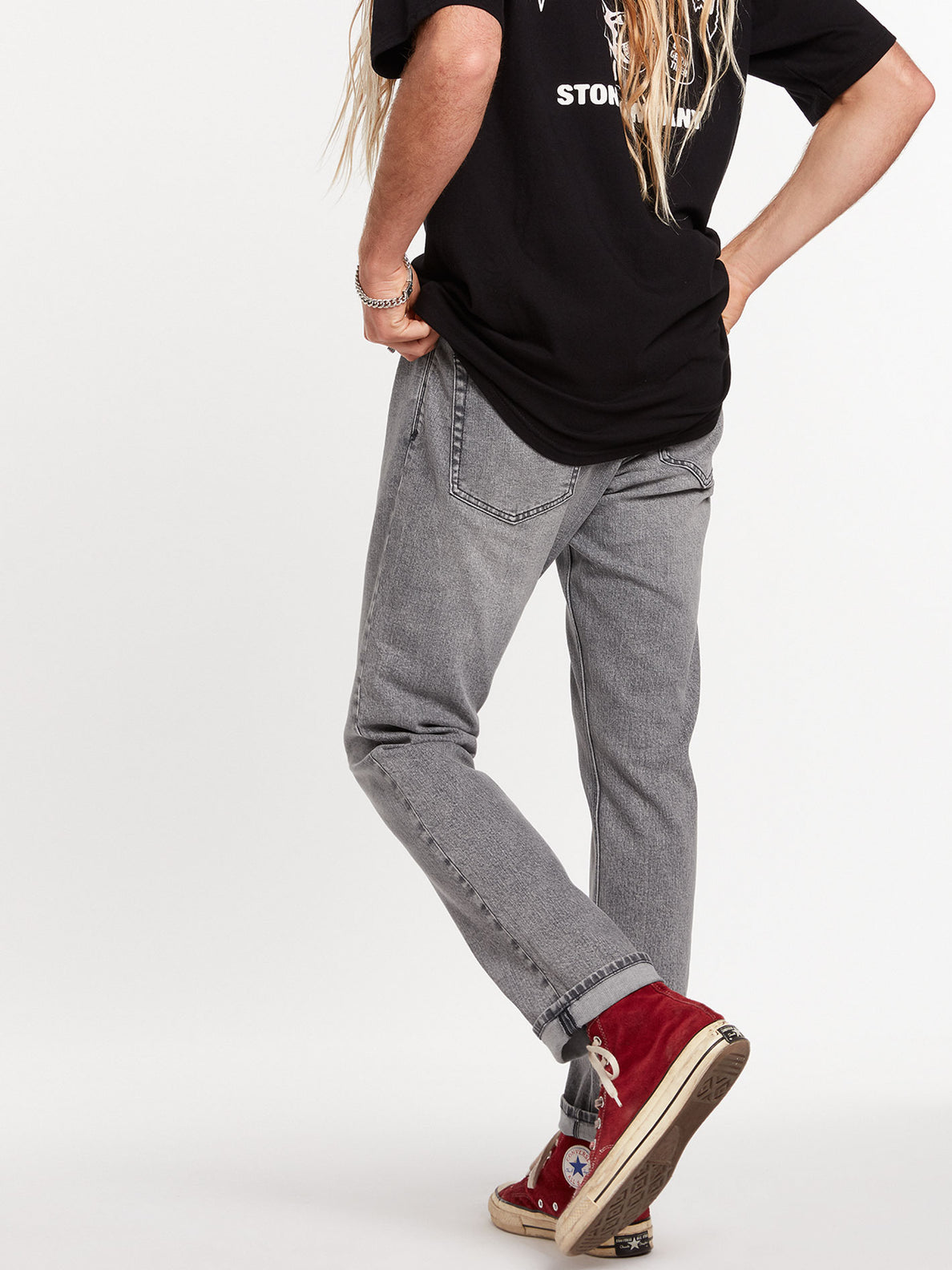 Vorta Slim Fit Jeans - Mono Grey (A1931501_MON) [37]