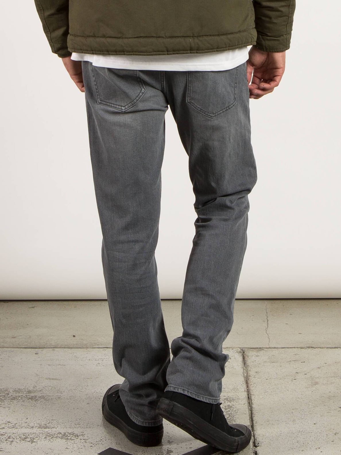 Vorta Slim Fit Jeans In Power Grey, Back View