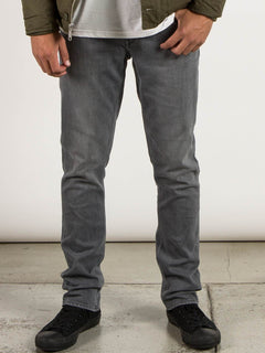 Vorta Slim Fit Jeans In Power Grey, Front View