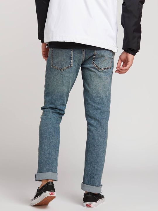 Vorta Slim Fit Jeans In Slate Blue, Back View