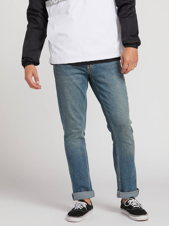 Vorta Slim Fit Jeans In Slate Blue, Front View