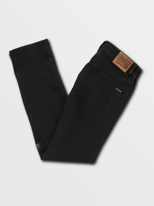Solver Modern Fit Jeans In Blackout, Back View