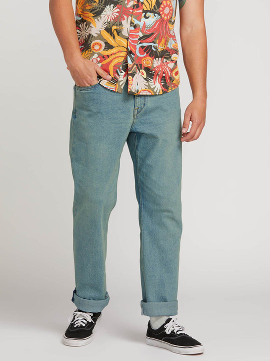 Kinkade Regular Fit Jeans In Allover Stone Light, Front View