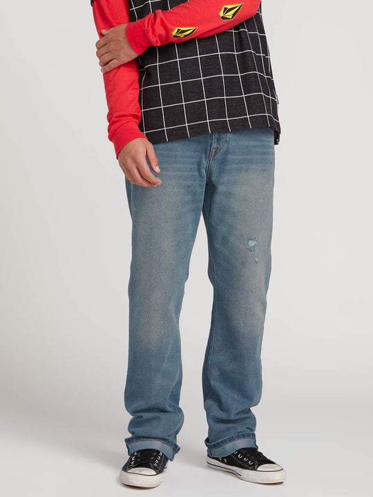 Kinkade Regular Fit Jeans In Cruzer Blue, Front View