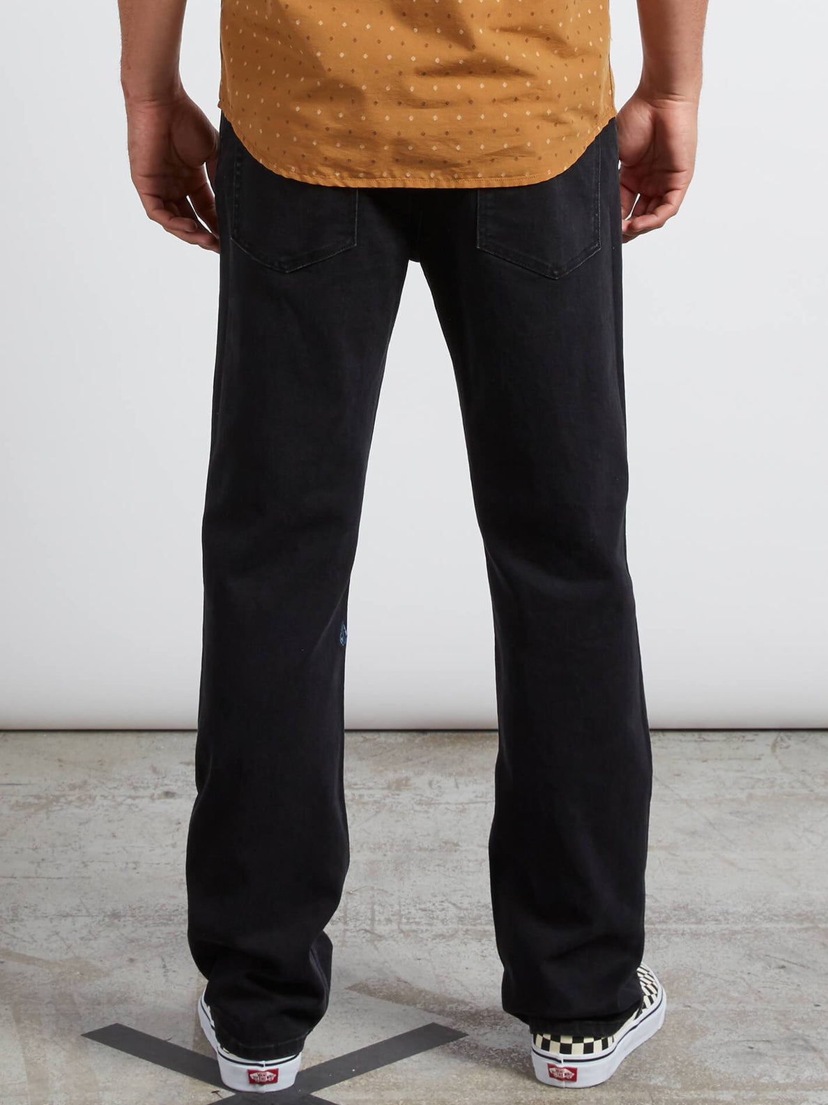 Kinkade Regular Fit Jeans In Tough Black, Back View