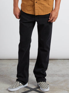 Kinkade Regular Fit Jeans In Tough Black, Front View