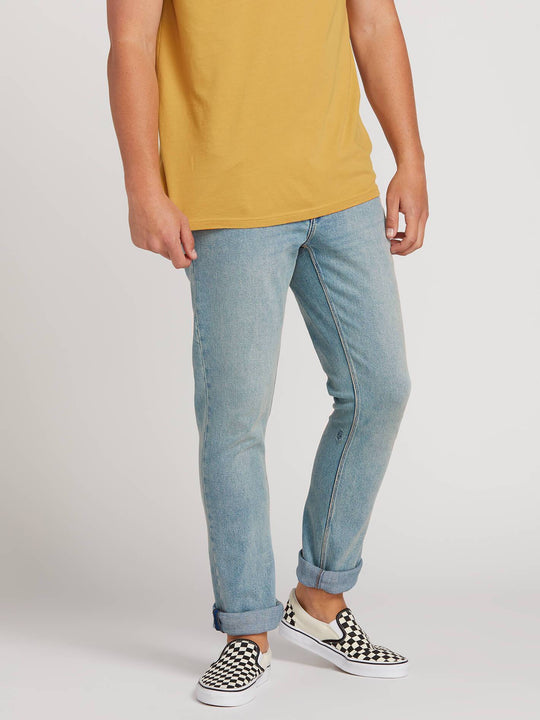 2X4 Skinny Fit Jeans In Allover Stone Light, Alternate View