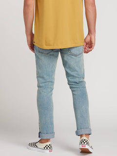 2X4 Skinny Fit Jeans In Allover Stone Light, Second Alternate View