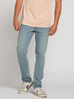 2X4 Skinny Fit Jeans In Blue Fog, Front View