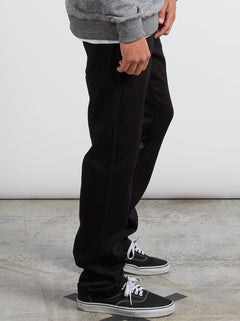 Kinkade Regular Tapered Jeans In Black On Black, Alternate View