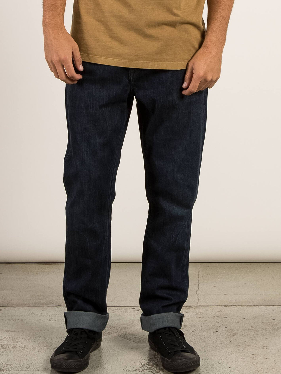 Kinkade Regular Tapered Jeans In Matured Blue, Front View