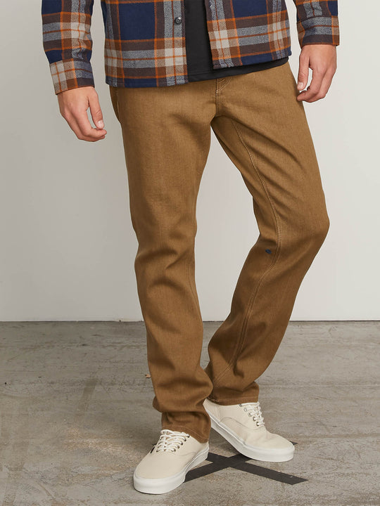 Kinkade Regular Tapered Fit Jeans In Wet Sand, Front View