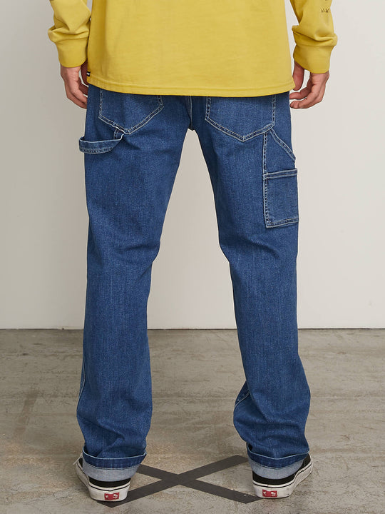 Whaler Regular Fit Jeans In Washed Blue, Back View