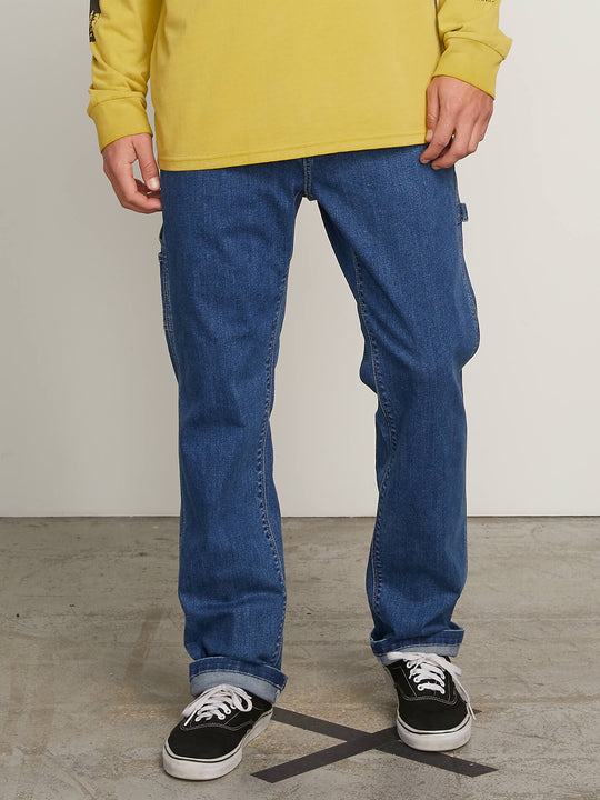 Whaler Regular Fit Jeans In Washed Blue, Front View