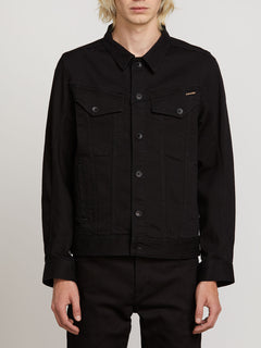 Weaver Denim Jacket - Black (A2111900_BLK) [F]