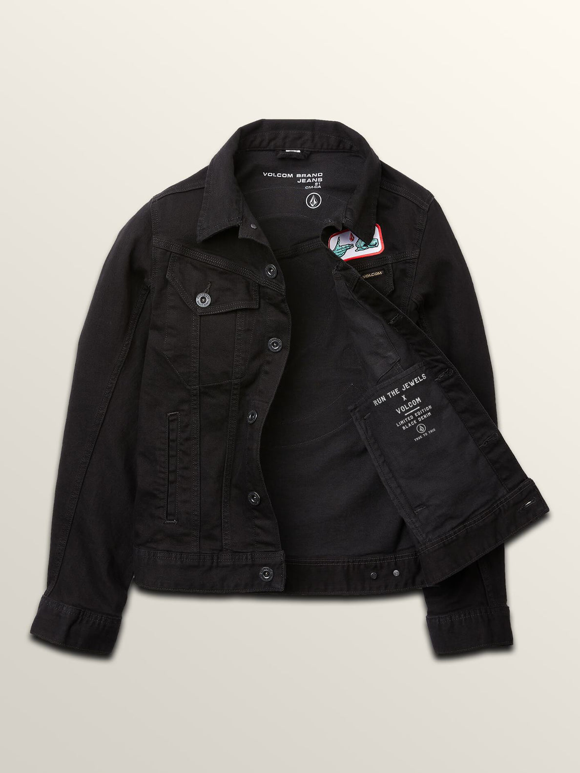 Run The Jewels Legend Has It Denim Jacket In Black, Alternate View
