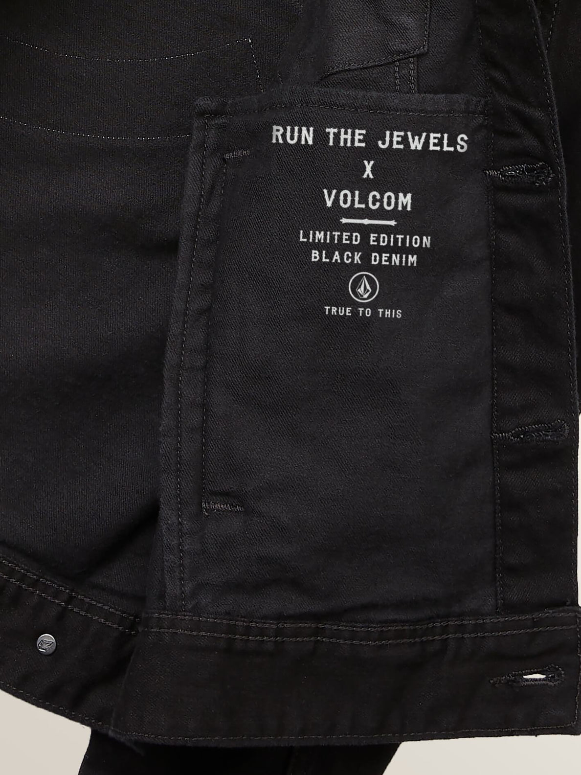 Run The Jewels Legend Has It Denim Jacket In Black, Second Alternate View