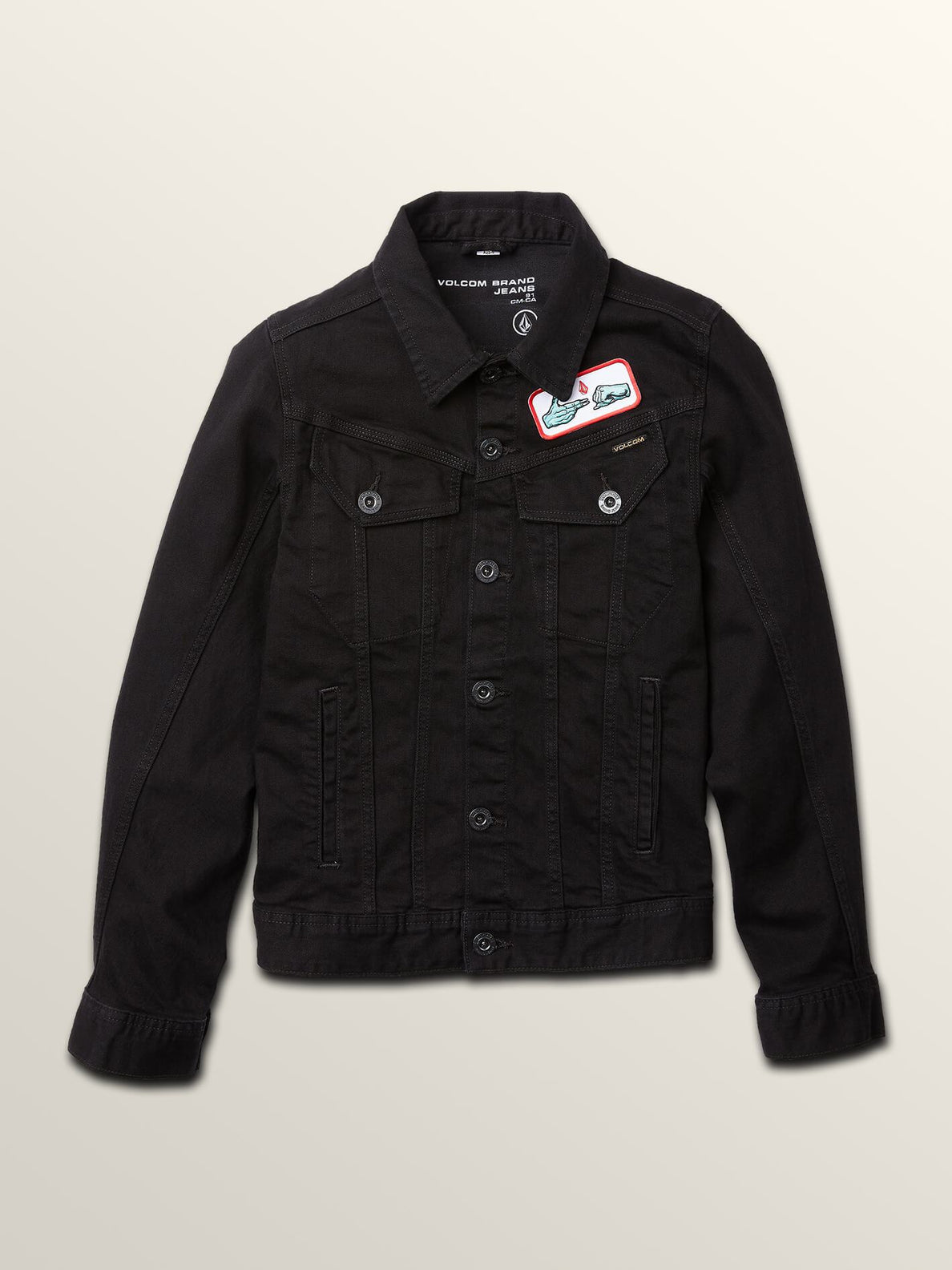 Run The Jewels Legend Has It Denim Jacket In Black, Front View