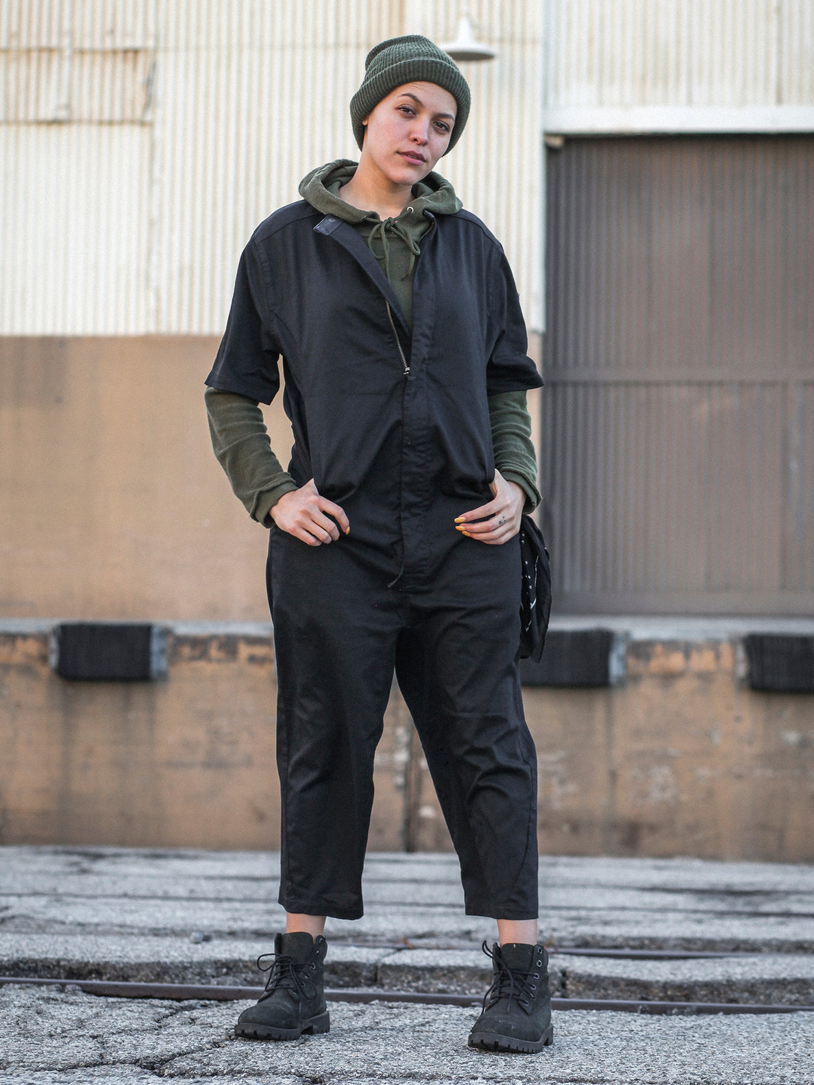 Rogan Gregory X Volcom Coverall In Black, Sixteenth Alternate View