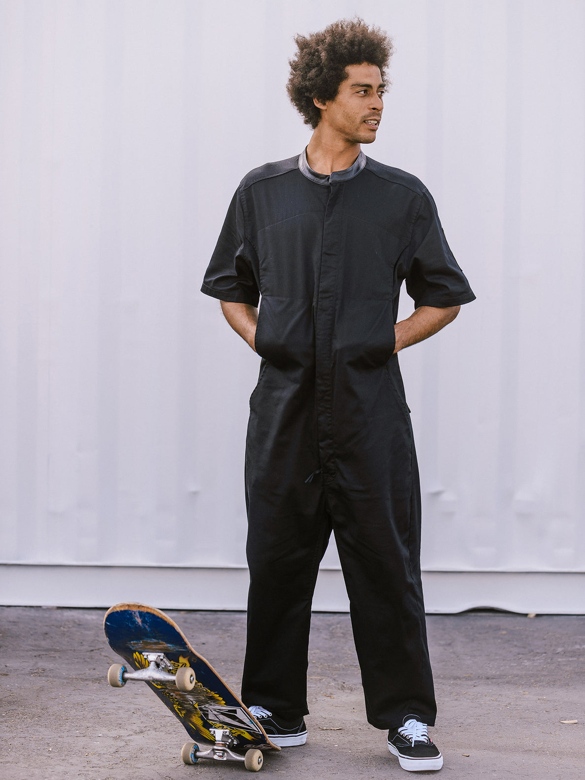 Rogan Gregory X Volcom Coverall In Black, Extended Size View