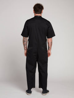 Rogan Gregory X Volcom Coverall In Black, Back View