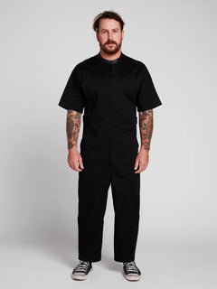 Rogan Gregory X Volcom Coverall In Black, Front View
