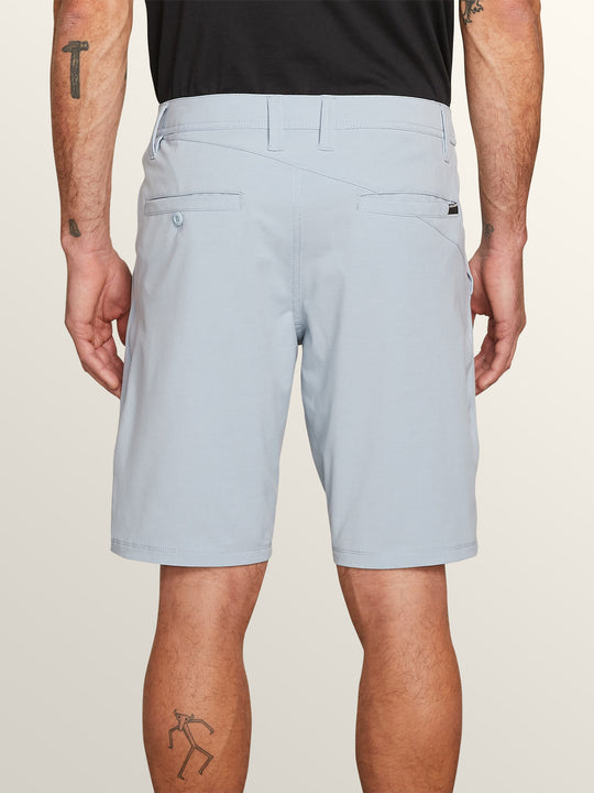 Frickin Surf N' Turf Slub Hybrid Shorts In Slate Blue, Back View