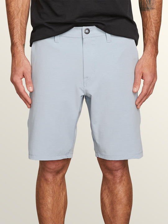 Frickin Surf N' Turf Slub Hybrid Shorts In Slate Blue, Front View