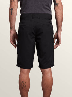 Frickin Surf N' Turf Dry Hybrid Shorts In Black, Back View
