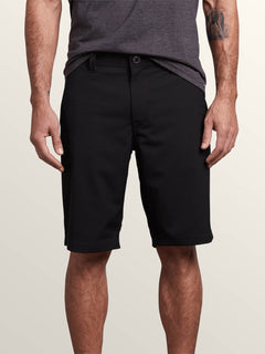 Frickin Surf N' Turf Dry Hybrid Shorts In Black, Front View