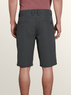 Frickin Surf N' Turf Dry Hybrid Shorts In Charcoal Heather, Back View