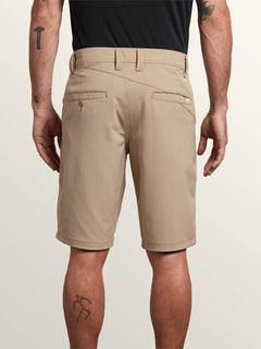 Frickin Surf N' Turf Dry Hybrid Shorts In Khaki, Back View