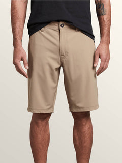 Frickin Surf N' Turf Dry Hybrid Shorts In Khaki, Front View