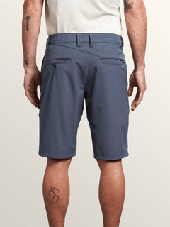 Frickin Surf N' Turf Dry Hybrid Shorts In Midnight Blue, Back View