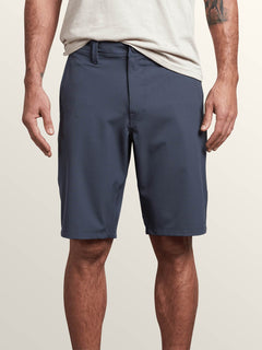 Frickin Surf N' Turf Dry Hybrid Shorts In Midnight Blue, Front View