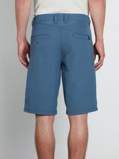 Frickin Surf N' Turf Dry Hybrid Shorts In Wrecked Indigo, Back View