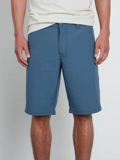 Frickin Surf N' Turf Dry Hybrid Shorts In Wrecked Indigo, Front View